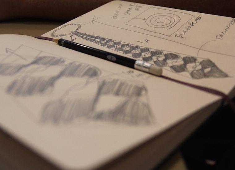 3D Twist Tie Sketch | Hazz Design