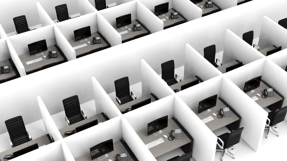 39694325 - interior of a modern office cubicles